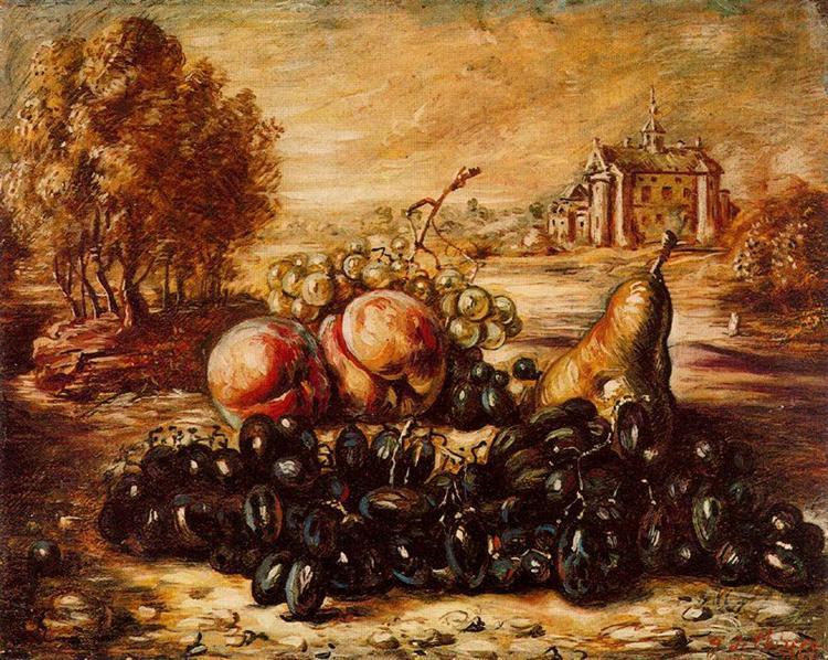 Black grape, 1947 - Giorgio de Chirico