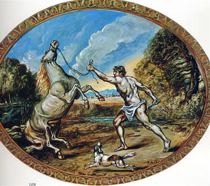 Castor and his horse, 1947 - Giorgio de Chirico