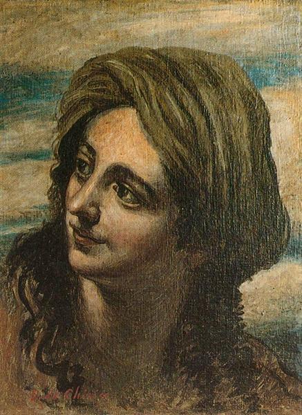Eastern woman's head, c.1950 - Giorgio de Chirico