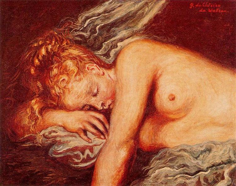 Girl Asleep, 1947 - Giorgio de Chirico