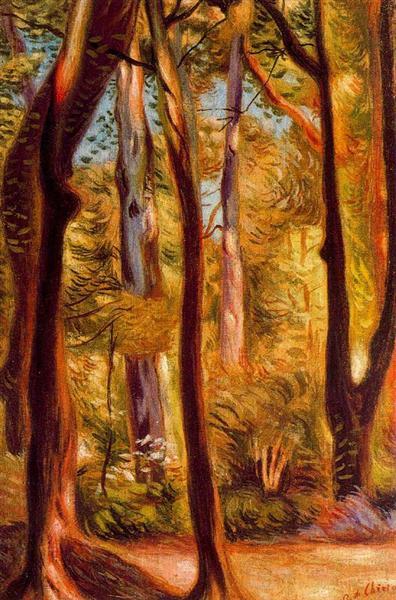 Landscape of Cascine - Giorgio de Chirico