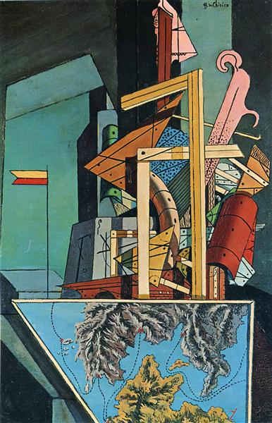 The Melancholy of Departure, 1916 - Giorgio de Chirico