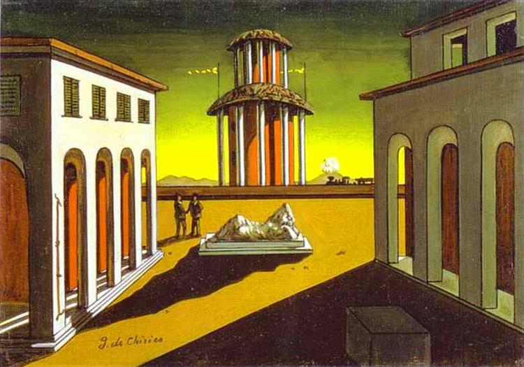 Piazza d'Italia, 1913 - Giorgio de Chirico