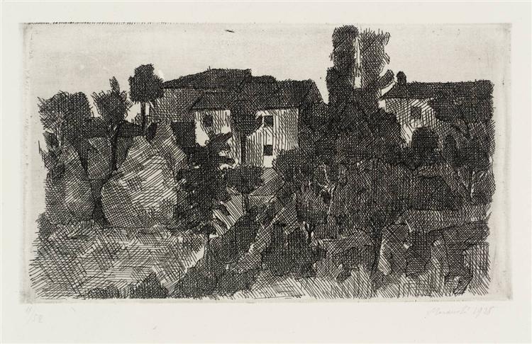 Hilltop at Evening, 1928 - Giorgio Morandi