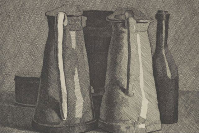Still Life With Five Objects, 1956 - Giorgio Morandi
