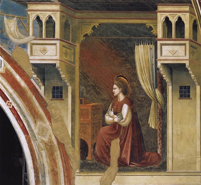 Annunciation: The Virgin Receiving the Message, 1306 - Giotto