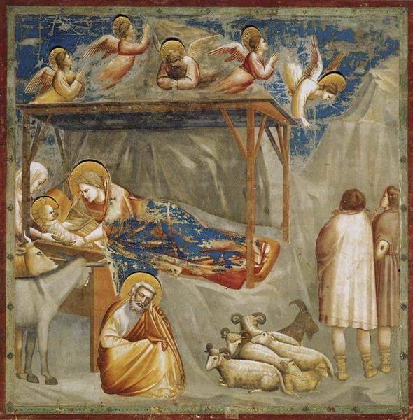 Nativity. Birth of Jesus, c.1304 - c.1306 - Giotto