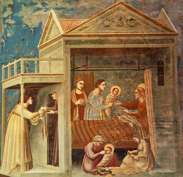 The Birth of the Virgin, c.1300 - Giotto