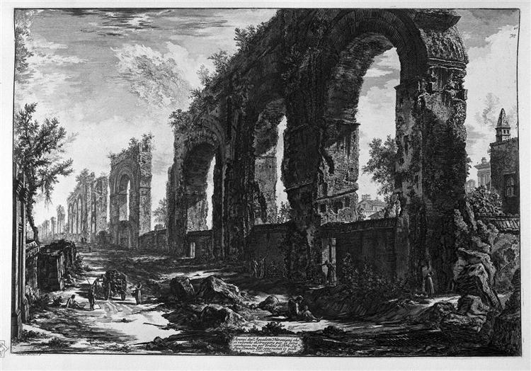 A view of the progress of the Water Castle Julia - Giovanni Battista Piranesi