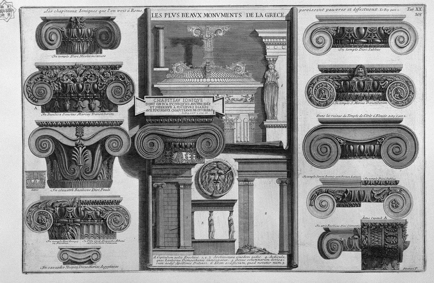 Ionic capitals of Rome