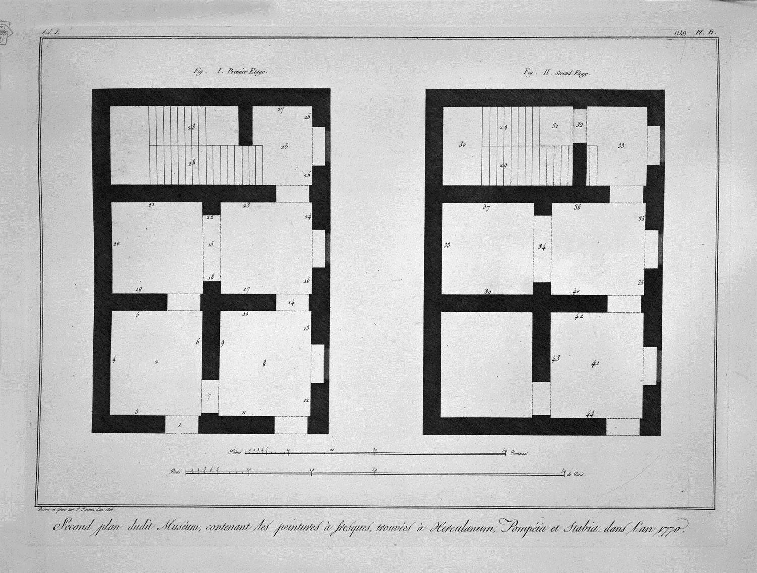 plan of the first and second floor of that museum giovanni battista piranesi
