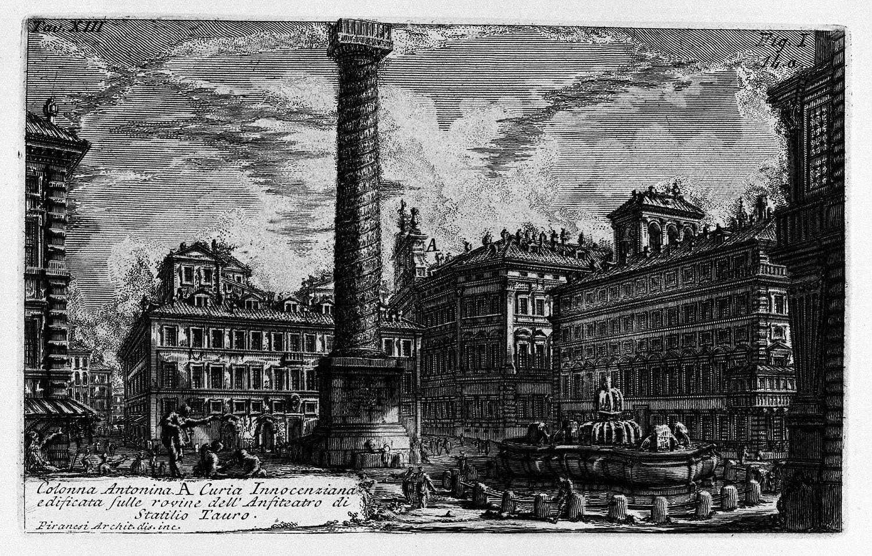 The Roman antiquities, t. 1, Plate XIII. Column of Marcus Aurelius., 1756