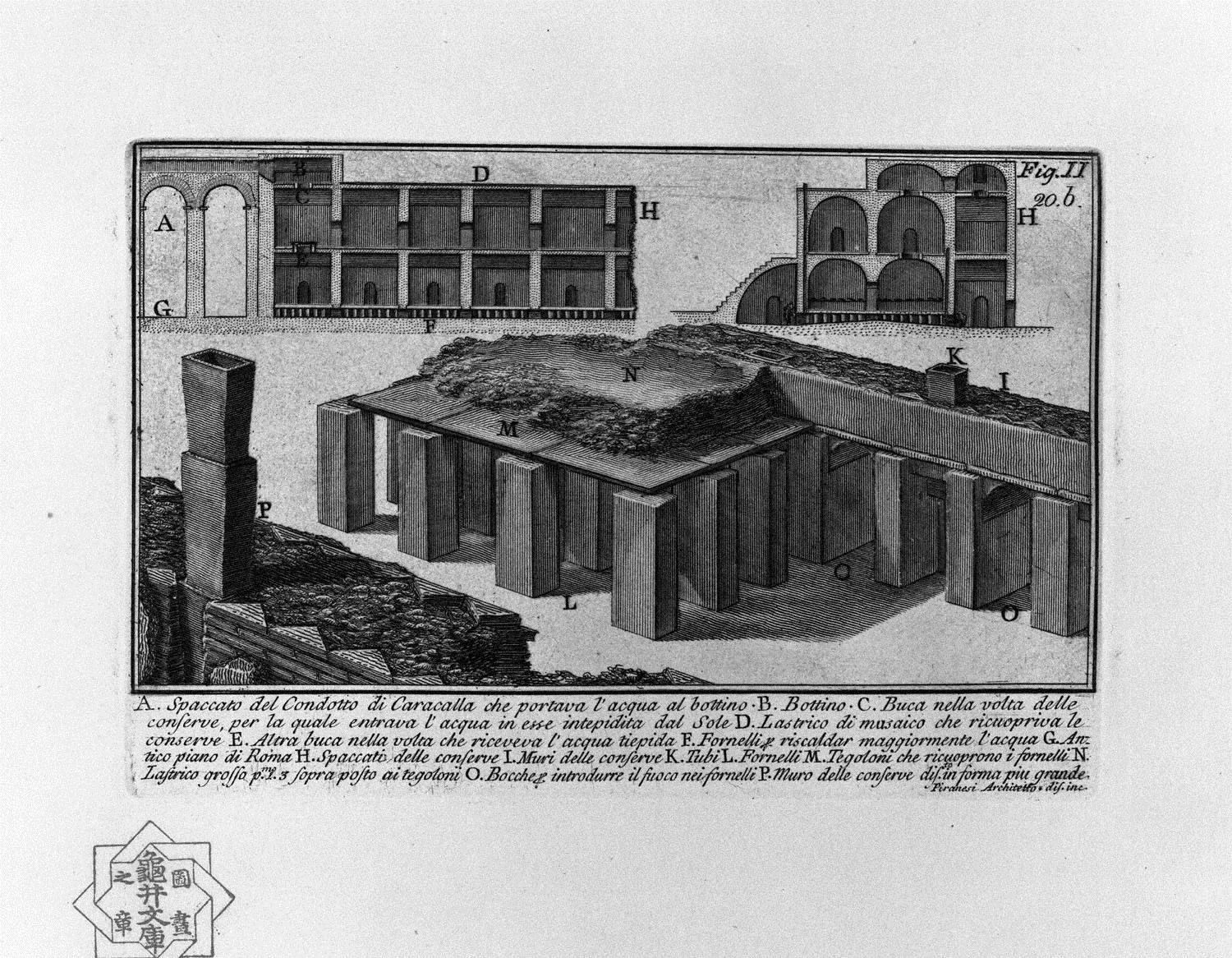 The Roman antiquities, t. 1, Plate XIX. Duct of Caracalla., 1756