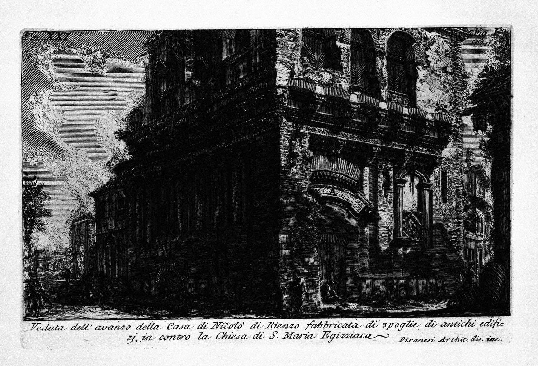 The Roman antiquities, t. 1, Plate XX. Casa dei Crescenzi., 1756
