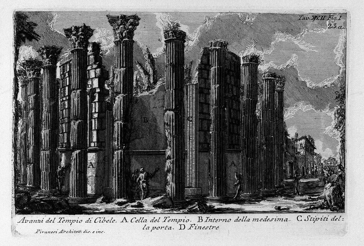 The Roman antiquities, t. 1, Plate XXII. Temple of Cybele., 1756
