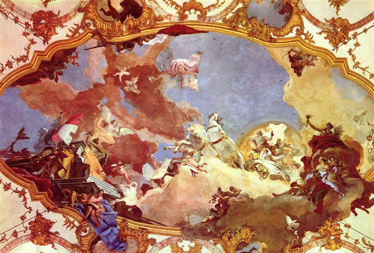 Apollo leads Frederick Barbarossa Beatrix of Burgundy, 1750 - 1753 - Giovanni Battista Tiepolo