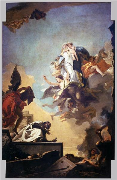 Apparition of the Virgin to St Simon Stock, 1749 - Giovanni Battista Tiepolo
