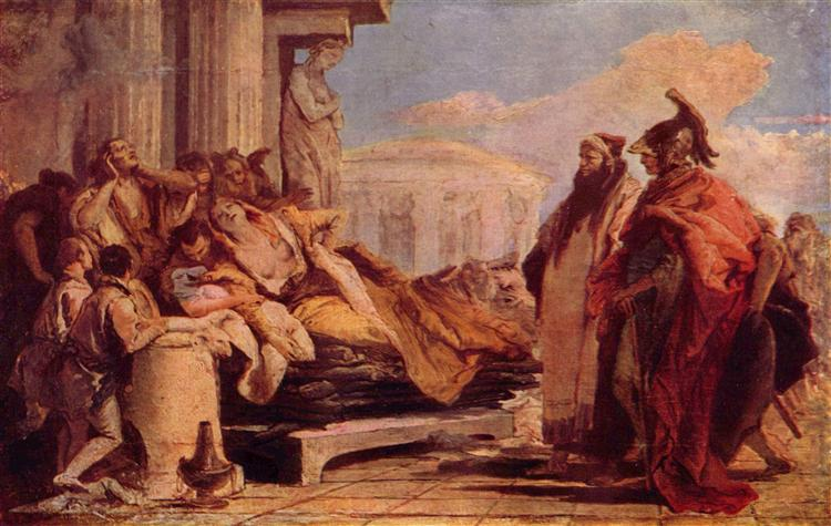 Death of Dido, 1757 - 1770 - Giovanni Battista Tiepolo