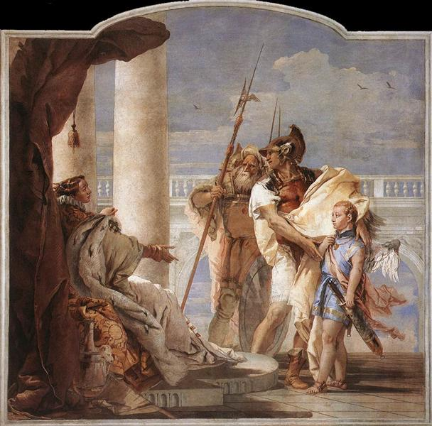 Detail of Dido, from Aeneid Presents Cupid, Disguised as Ascanius, to Dido, 1757 - Giovanni Battista Tiepolo