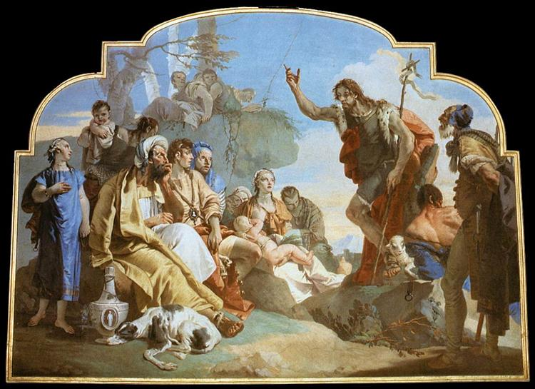 John the Baptist Preaching, 1732 - 1733 - Giovanni Battista Tiepolo