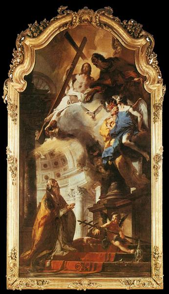 Pope St Clement Adoring the Trinity, 1737 - 1738 - Giovanni Battista Tiepolo