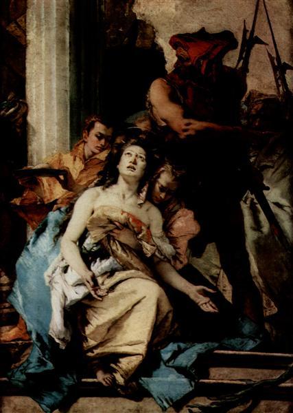 The Martyrdom of St Agatha, 1750 - Giovanni Battista Tiepolo