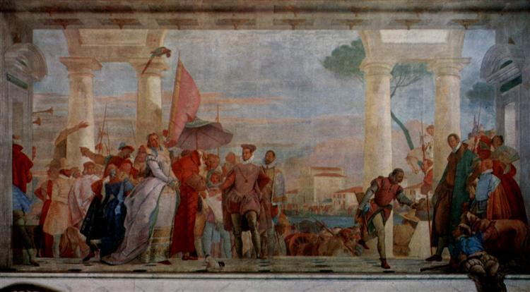 The reception of Henry III, 1750 - Giovanni Battista Tiepolo