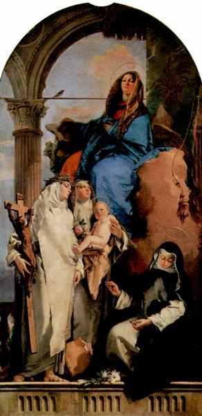 The Virgin Appearing to Dominican Saints, c.1740 - Giovanni Battista Tiepolo