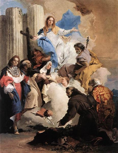 The Virgin with Six Saints, 1737 - 1740 - Giovanni Battista Tiepolo