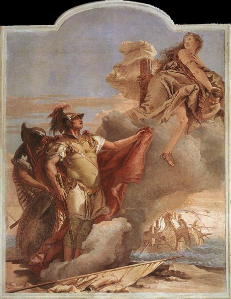 Venus's Farewell to Aeneas, from the Room of the Aeneid in the Palazzina, 1757 - Giovanni Battista Tiepolo