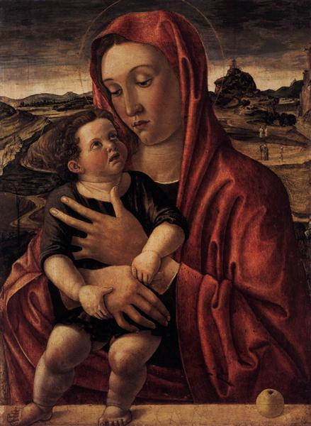 Madonna, with Child Standing on a Parapet, 1469 - Giovanni Bellini