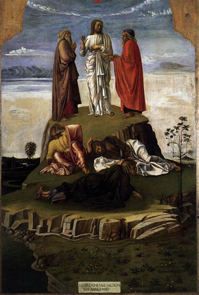 Transfiguration of Christ on Mount Tabor, c.1455 ...