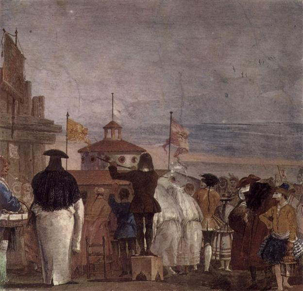 The New World, from the 'Foresteria' (Guesthouse), 1757 - Giovanni Domenico Tiepolo