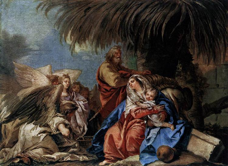 The Rest on the Flight to Egypt - Giandomenico Tiepolo