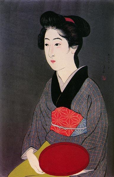 Woman Holding Tray, 1920 - Гойо Хасігуті