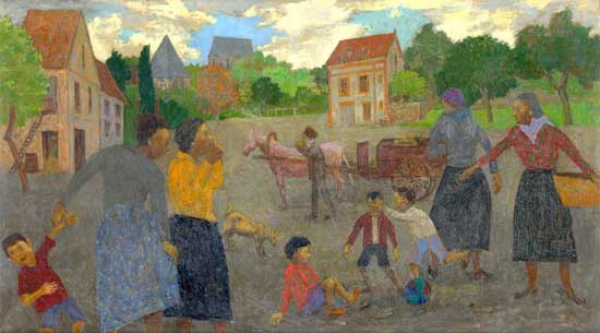 Village Scene - Grégoire Michonze