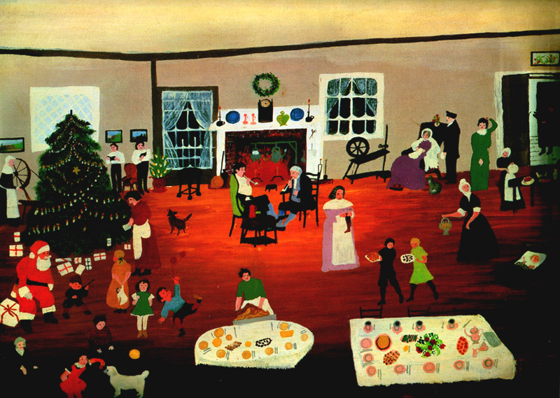 Christmas at Home - Grandma Moses - WikiArt.org
