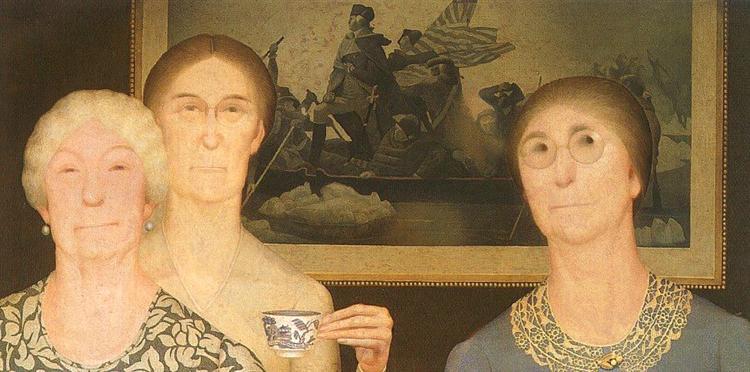 Daughters of Revolution, 1932 - Grant Wood