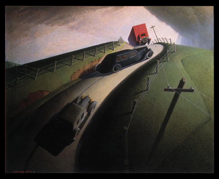 Death on the Ridge Road, 1935 - Grant Wood
