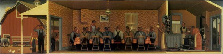 Dinner for Threshers, 1934 - Grant Wood