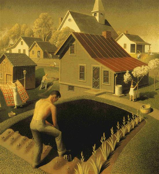 Spring In Town, 1941 - Grant Wood