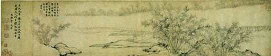 Bamboo Groves in Mist and Rain, 1308 - Guan Daosheng