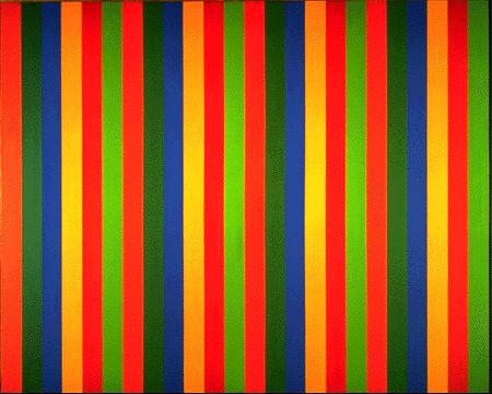 Mutation serielle verte-rouge, 1966 - Guido Molinari