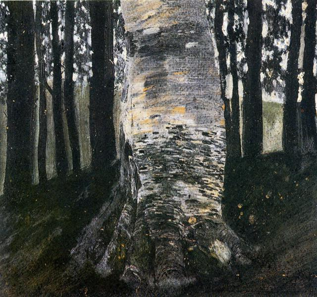 Birch in a Forest, c.1903 - Gustav Klimt