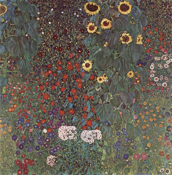 Country Garden with Sunflowers, 1905 - 1906 - Gustav Klimt