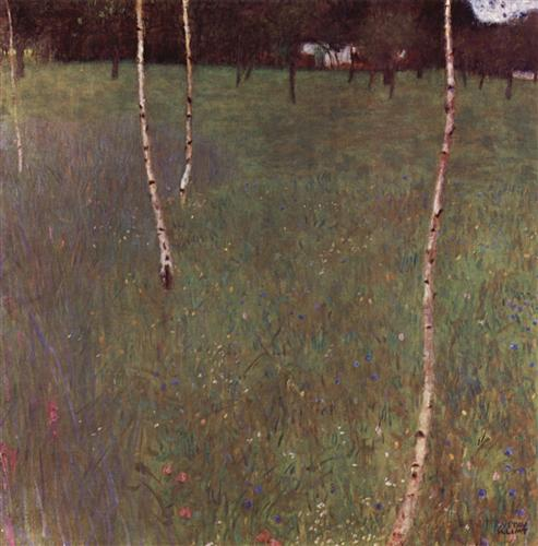 Farmhouses with Birch Trees - Gustav Klimt