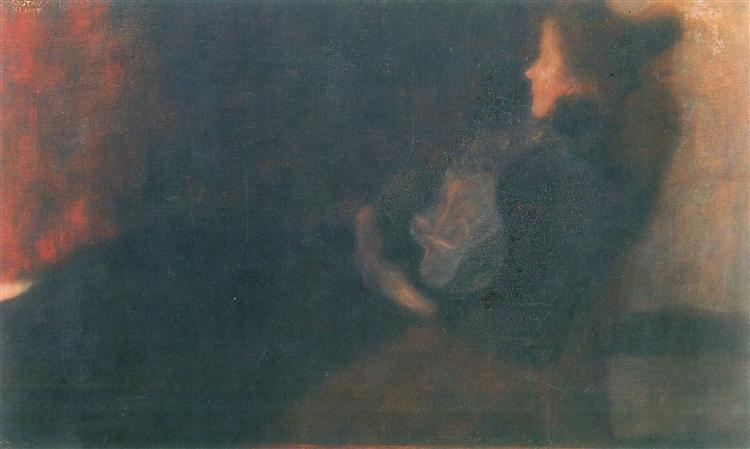 Lady by the Fireplace, 1897 - 1898 - Gustav Klimt