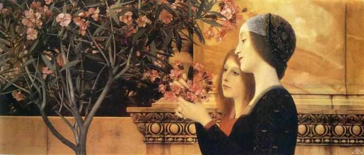 Two Girls With An Oleander, 1890 - Gustav Klimt