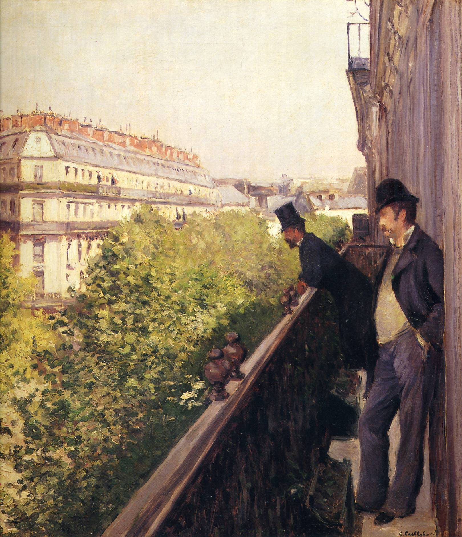 A balcony boulevard haussmann 1880 gustave caillebotte for Balcony history