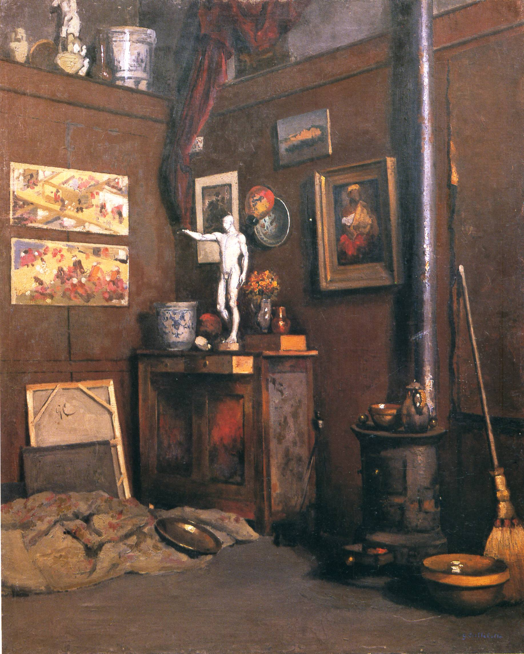 Interior of a studio gustave caillebotte encyclopedia of visual arts - Interior images ...